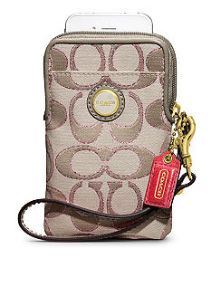 COACH POPPY SIGNATURE SATEEN METALLIC UNIVERSAL CASE