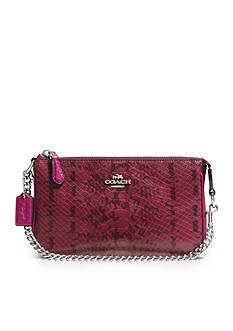 COACH COLORBLOCK EXOTIC EMBOSSED LEATHER NOLITA 19 WRISTLET