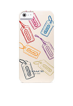 COACH HANGTAG MULTI MIX IPHONE 5 CASE