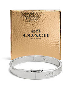 COACH BOXED HORSE AND CARRIAGE PLAQUE HINGED BANGLE