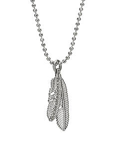 COACH PAVE MULTI FEATHER NECKLACE