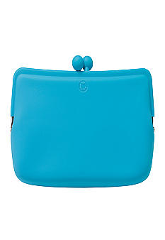 Candy Store Silicone Cosmetic Pouch-Peppermint Blue