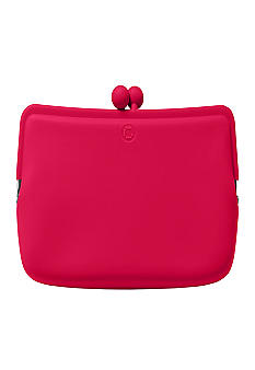 Candy Store Silicone Cosmetic Pouch-Cherry Red