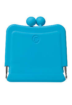Candy Store Silicone Purse Mirror-Peppermint Blue