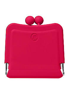 Candy Store Silicone Purse Mirror-Cherry Red