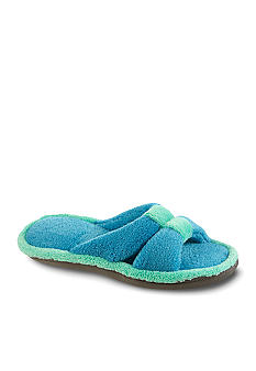 Isotoner Microterry Slide with Center Keeper Slipper