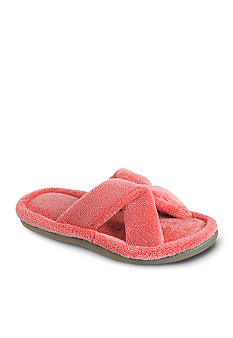 Isotoner Microterry Crossover Slide Slipper