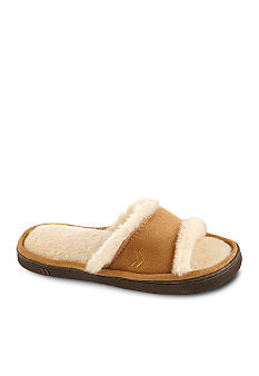 Isotoner Microsuede Faux Fur Slide Slipper