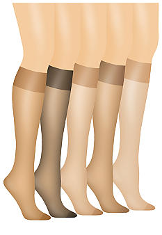 Hanes Silk Reflections Queen Size Sheer Knee High Enhanced Toe