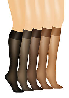 Hanes Silk Reflections No Slip Band Knee High Set of 2