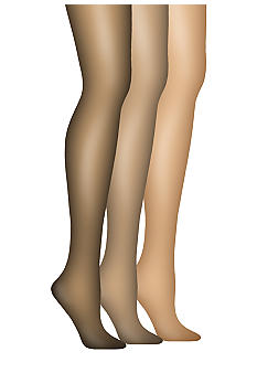 Hanes Silk Reflections French Cut Lace Panty Control Top Pantyhose