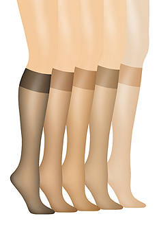 Hanes Silk Reflections Silky Sheer Knee High 2 Pack