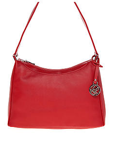 Kim Rogers Top Zip Leather Hobo Bag