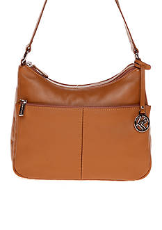 Kim Rogers® Double Entry Leather Hobo