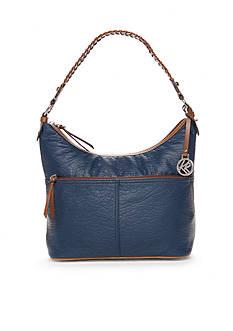 Kim Rogers Waxy Pebble Hobo Bucket Bag
