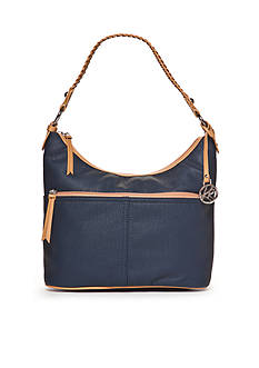 Kim Rogers Waxy Pebble Hobo Bucket Bag