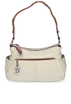 Kim Rogers® Braided Waxy Pebble Double Entry Hobo