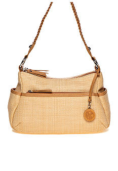 Kim Rogers Braided Straw Double Entry Hobo