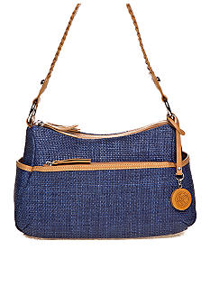 Braided Straw Double Entry Hobo