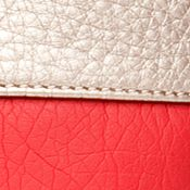 Kim Rogers: Red/Pewter Kim Rogers Washed Pebble Tote