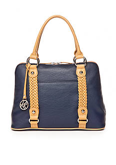 Kim Rogers Braided Dome Satchel