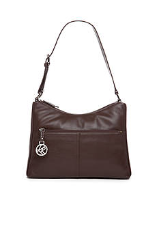 Kim Rogers Double Zip Leather Shoulder Bag