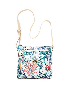 Kim Rogers Tropical Flower Canvas Crossbody