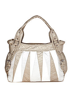 Bueno Washed Triangle Panels Tote