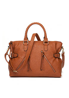 Bueno Veg Tan Satchel with Crossbody