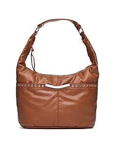 Bueno Pearlized Washed Grommet Hobo