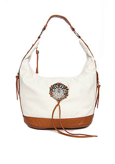 Bueno Washed Medallion Hobo Bag