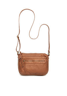 Bueno Pearlized Wash Multi Zip Crossbody