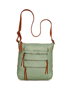 Bueno Pebble Trim Multi Zip Crossbody