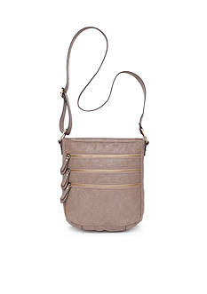 Bueno Veg Tan Multi Zip Crossbody
