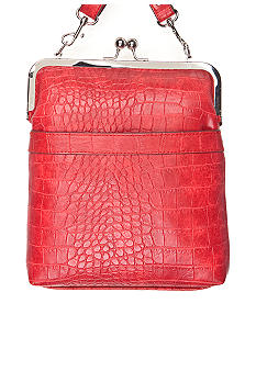 Bueno Croco Embossed Frame Crossbody