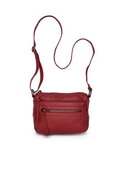 Bueno Washed Lizard Multi Zip Crossbody