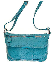 Bueno Ostrich Washed Crossbody