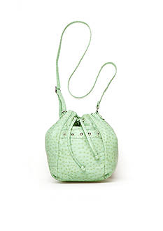 Bueno Ostrich Drawstring Mini Bag
