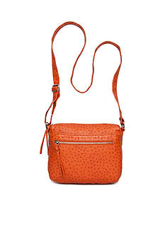 Bueno Ostrich Multi Pocket Crossbody