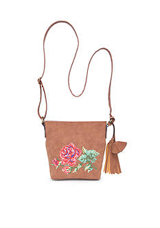 Bueno Petit Point Flower Crossbody