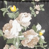 Handbags and Wallets: Black Cream Multi Flower Bueno Printed East West Flap Minibag