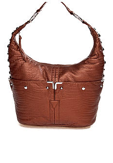 Bueno Washed Croco Hobo