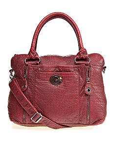 Bueno Washed Croc Satchel