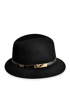 Betmar Darcy Felt Gold Buckle Fedora Hat
