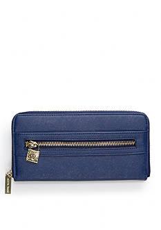 Anne Klein Jazzy Geo Zip Around Wallet
