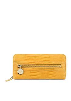 Anne Klein Leo Lizard Zip Around Wallet