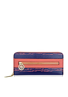 Anne Klein Double Time Zip Around Wallet