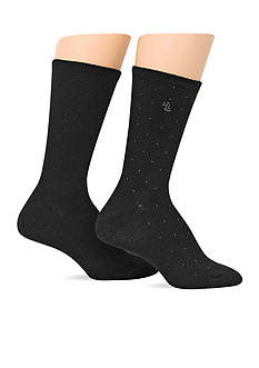 Lauren Ralph Lauren Pindot Supersoft Trouser Socks - 2 Pack