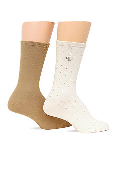 Lauren Ralph Lauren Pindot Supersoft Trouser Sock