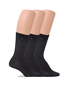 Lauren Ralph Lauren 3 Pack Tipped Rib Socks